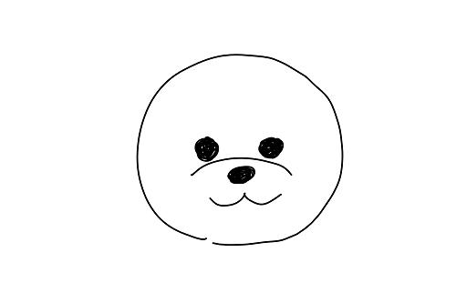 トイプードルのお顔のスケッチ
