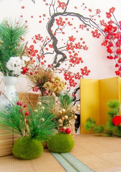 和室風の写真ステージ