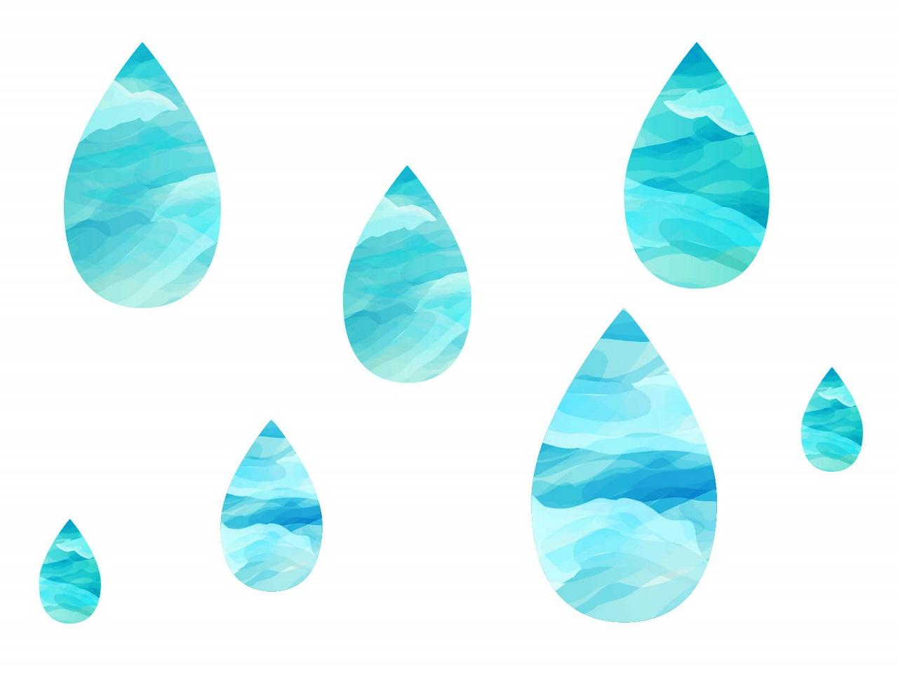 水滴の水彩